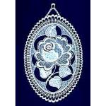 window picture - medallion of roses