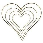 Metal Frame Heart, gold-plated
