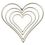 Metallrahmen Herz, vergoldet