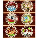 Holzhänger - Tiere farbig