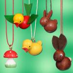 Wooden Miniatures to Hanging - Spring