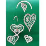 Mobile Heart Frame, gold-plated