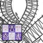 Klöppelbriefe für sechs Engel