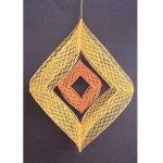 Set Wind Chimes - Pattern and Material gelb- orange