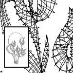 Klöppelbrief Blumenkorb