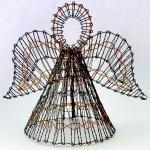 Klöppelbrief 3D Engel aus Draht
