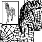 Klöppelbrief Pferd