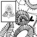 Klöppelbrief 2 Vögel