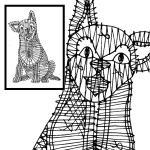 Klöppelbrief Hund
