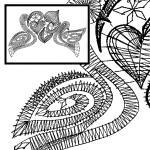 Klöppelbrief Tauben - Hochzeitsmotiv
