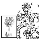 Klöppelbrief Vogel- & Blumenphantasien 1