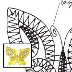 Klöppelbrief Schmetterling (für Gimpe)