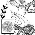 Klöppelbrief 5 Musikengel im Kreis