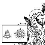 Klöppelbrief Glocke und Stern