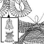Klöppelbrief-Zwei Glocken