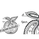 Klöppelbrief Apfel