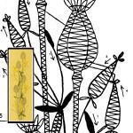 Klöppelbrief Blumenstrauß Mohnblume