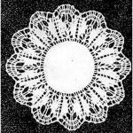 Klöppelbrief Decke rund  20 cm