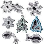 Klöppelbriefe Weihnachtsmotive