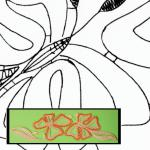 Klöppelbrief Glaskerzenhalter Schmetterlinge