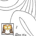 Klöppelbrief Eule 2