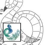 Pattern peacock 2