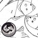 Klöppelbrief Fische (Ø: 12 cm)