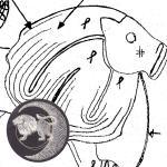 Klöppelbrief  Löwe (Ø: 12 cm)