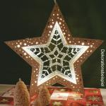 LED light star from wood