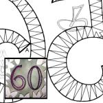 Pattern anniversary numbers 0-9