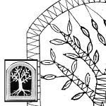 Klöppelbrief Baum (Gr. 4)