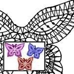Klöppelbriefe Schmetterlinge, 3 Morive