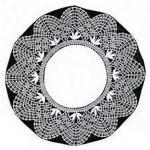Klöppelbrief Decke rund  24 cm