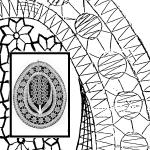 Klöppelbrief - Frühlingsgruß - Flieder