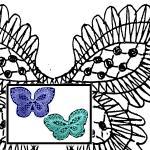 Klöppelbrief Schmetterling, 2 Motive