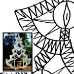 Klöppelbrief Weihnachtsbaum mit Innenraum
