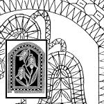 Klöppelbrief Glockenblume (Gr. 6)