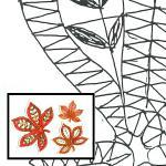 Klöppelbrief Herbstblätter