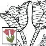 Klöppelbrief Tulpe