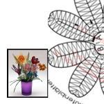 Klöppelbriefe Frühlingsstrauß - Bastelset
