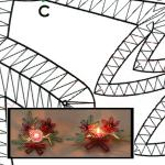 Klöppelbrief Rote Zier und Tannengrün