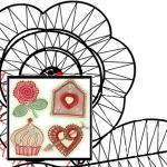 "Klöppelbriefe ""Valentinstag"""