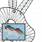 Pattern  unicorn rainbow
