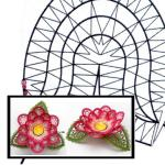 Pattern rose blossom for tealight holders