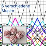 Pattern decorations for easter eggs
