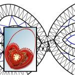 """Pattern """"Love you"""" heart basket"""