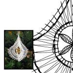 Klöppelbrief Weihnacht 3D -Pendel