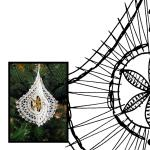 Pattern Christmas 3D -pendulum