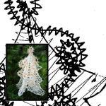 Klöppelbrief Weihnachtsbaum 3D