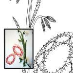 Klöppelbrief Erste Blumen